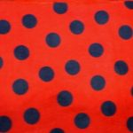 Ladybug - quarter size black dots