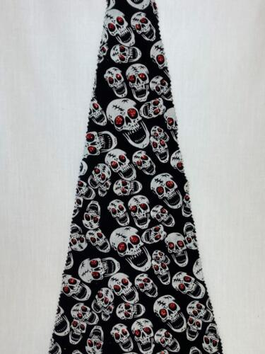 Skulls with Red Sparkle Eyes