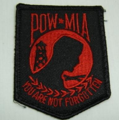 Red POW MIA Patch