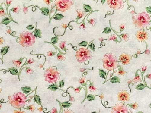Peach Pansies on Ivory (NEW)
